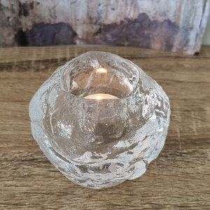 Vintage Kosta Boda Snowball Glass Votive Candle Holder Mid Century Modern